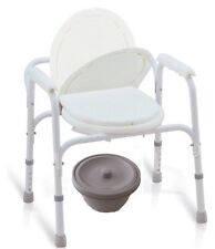 3 in 1 Portable Bedside Commode Travel Size Commode Seat 250 lbs. Weight Limit