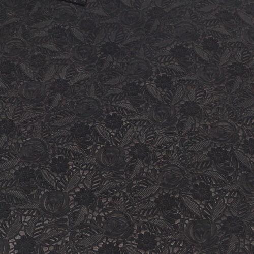 Flower imaginación Design prägeleder Echt Leder negro Leather teñido 213