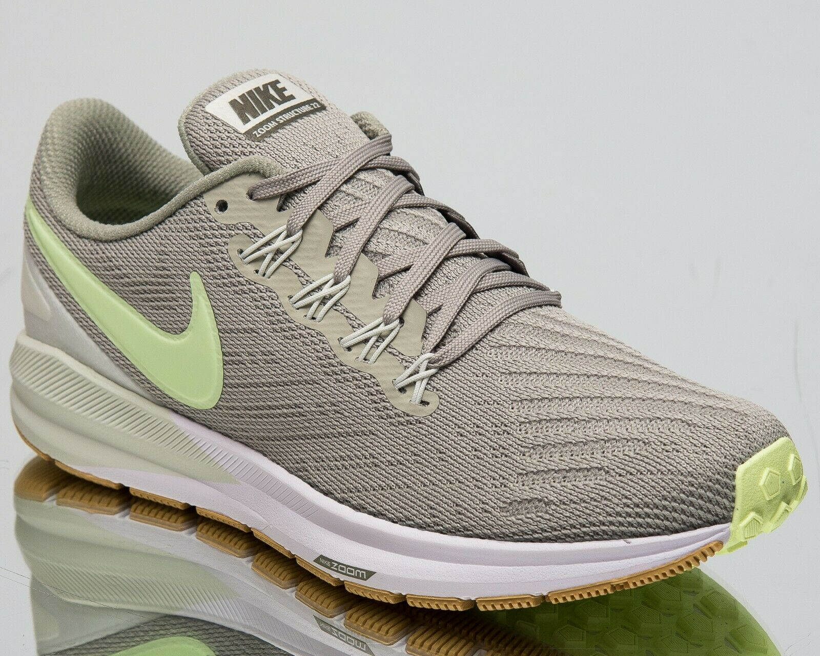 Nike Wouomo Air Zoom Structure 22 New Running scarpe Spruce Fog Volt AA1640-300