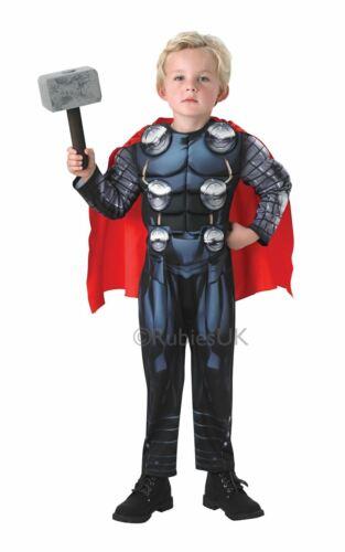 Costume Thor Bambino Ragazzi Bambini Marvel Avengers Supereroe Costume Outfit con licenza