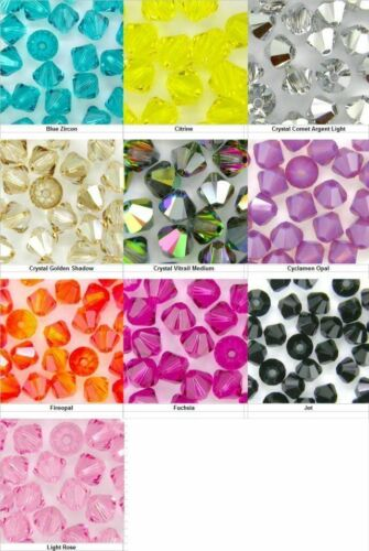 1000 pcs.4mm SWAROVSKI 5301//5328 XILION CRYSTAL BEADS U PICK  COLORS
