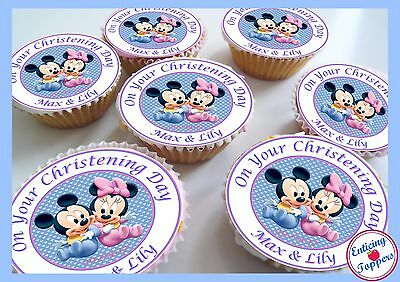 Pleasant Christening Naming Day Birthday Twins Boy Girl Edible Personalised Funny Birthday Cards Online Inifodamsfinfo