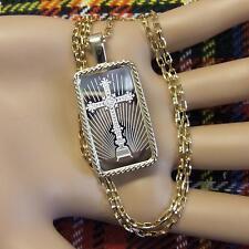 9ct gold New bullion bar faith pendant  & chain with 10g fine silver ingot