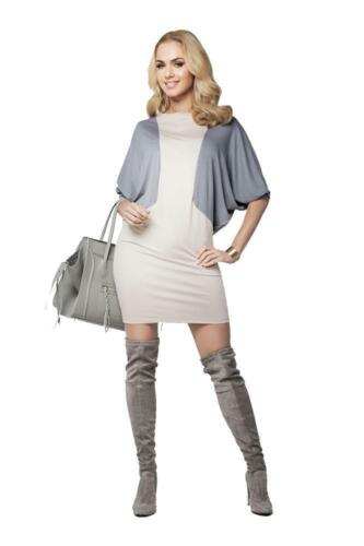 S M L XL XXL 3XL Kleid 2 Farbig mit Fledermausärmel Gr B012