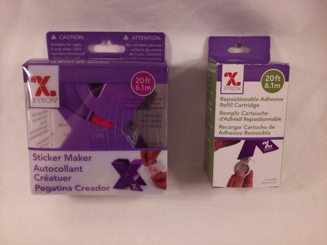 "NEW Xyron Sticker Maker machine 1.5/"" with permanent adhesive cartridge XRN150"