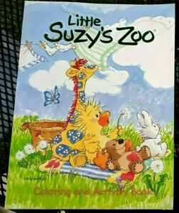 Vintage-Little-Suzy-039-s-Zoo-Coloring-Book-Activity-Animals-Duck-Rabbit-Bear-amp-More