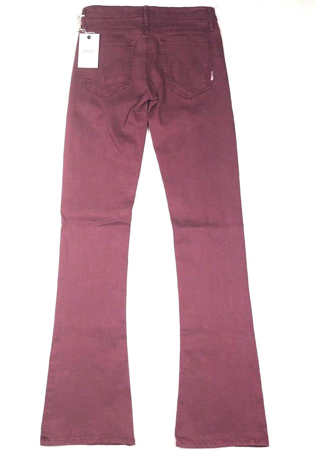 MOTHER Denim The RUNAWAY Pop RSP Raspberry Slim Flare Bootcut Women Jean Pants