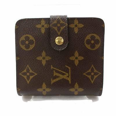 Authentic Louis Vuitton Wallet Compact Zip Browns Monogram ...
