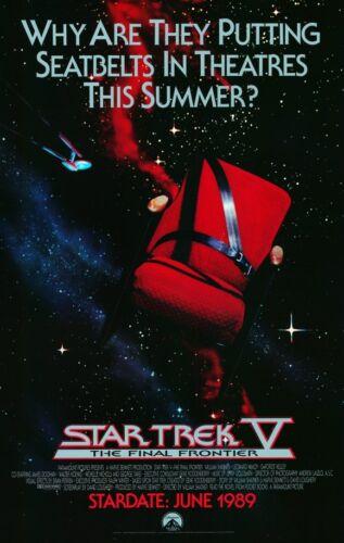 THE FINAL FRONTIER Movie POSTER 11x17 B Leonard Nemoy STAR TREK 5