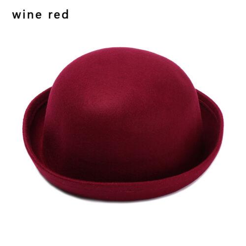 Elegant Warm Vintage Beanie Cap Floppy Bowler Wool Felt Hat Fedora Beret