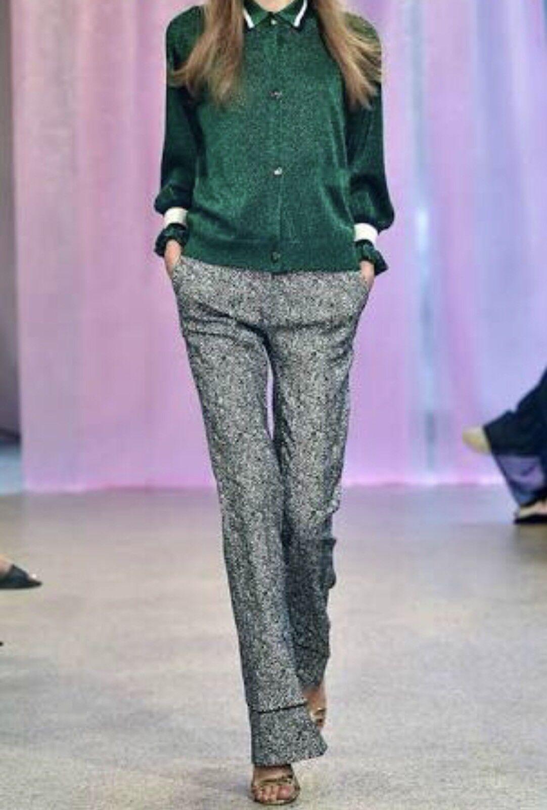 Baum und pferdgarten christie Cardigan Knit Top Jumper Metallic Emerald Green