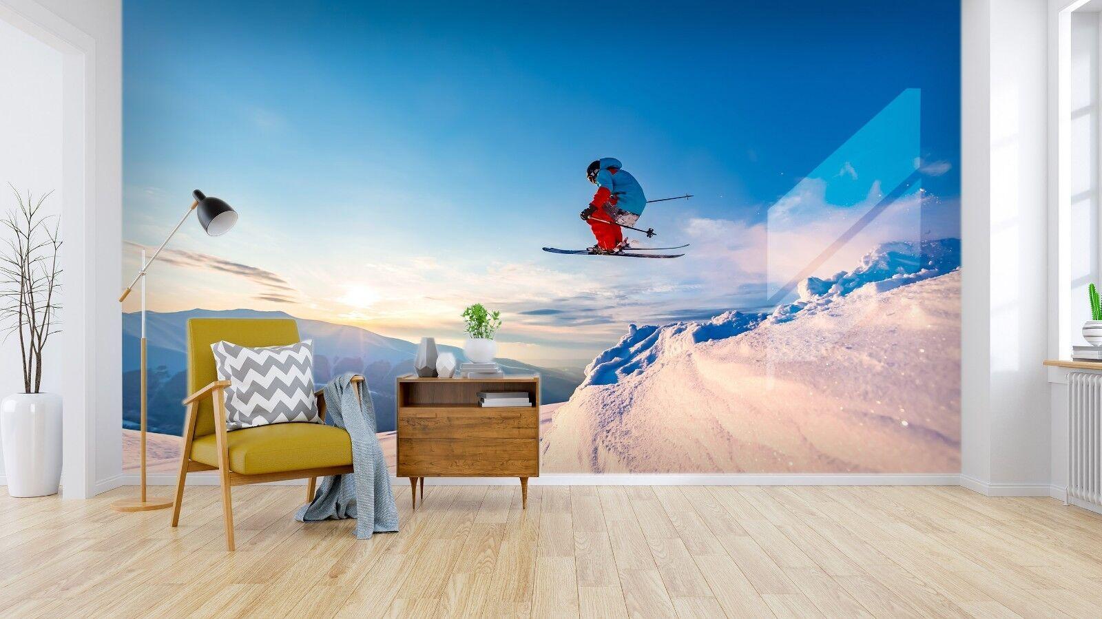 3D Blau Sky Ski 927 Wall Paper Murals Wall Print Wall Wallpaper Mural AU Sidney