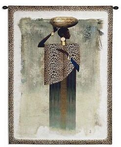 African Woman Animal Prints Art Tapestry Wall Hanging