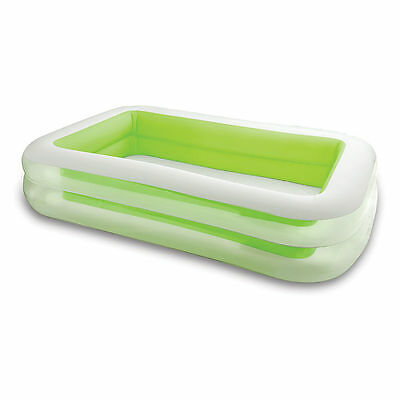 Piscina desmontable inflable verde PVC 2 cámaras de aire FAMILY 56483N