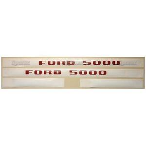 Prix Pas Cher Ford 5000 1968-1975 Tracteur Basique Capote Ensemble D'autocollants Emblème