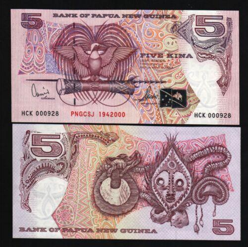 PAPUA NEW GUINEA 5 KINA P20 2000 COMMEMORATIVE BIRD SJ UNC MONEY PACIFIC NOTE