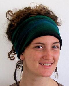 Forest-Tie-Dyed-Headwrap-Headband-Hair-amp-Dreadband-Head-Wrap-Cotton-Dreadwrap