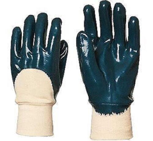 5 paires de GANTS Protection Manutention,au Nitrile,Taille 8 (EUROTECHNIQUE)