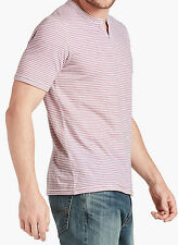 NWT Lucky Brand Men's Striped North Shore Notch Short Sleeve Shirt Large New