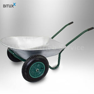 BITUXX-Zweiradkarre-Schubkarre-Baukarre-Gartenkarre-Muldenkarre-Bau-100L-150kg