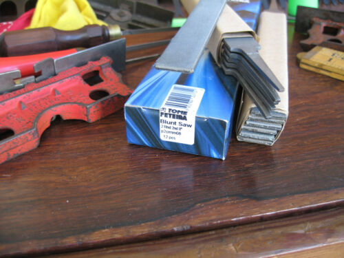 """2 MILL FILES LOT TWO TOME/' FETEIRA 8/"""" ROUND EDGE 2ND CUT CROSSCUT// BLUNT SAW"""