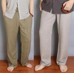 971b3a813146 Men 100% Linen Cotton Chinese Casual Baggy Summer Fashion Kongfu ...