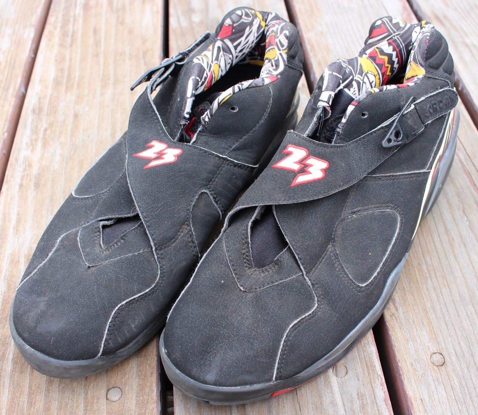 2003 Nike Air Jordan 8 VIII Low Playoffs Black Red Size 13 Retro Shoes 03