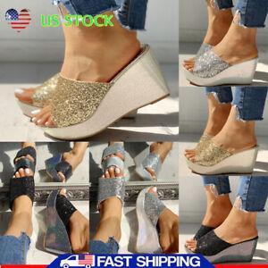 Women-Platform-Wedge-Casual-Slipper-Sandals-Summer-Party-High-Heel-Glitter-Shoes