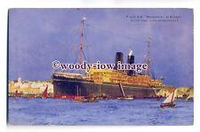 LS0204 - P&O Liner - Macedonia at Bombay - art postcard by Charles Dixon