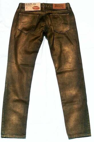 Rare REPLAY Mod.WV538 Special Gold Bleached Edition Blue ViP JEANS W28 L30 28//30
