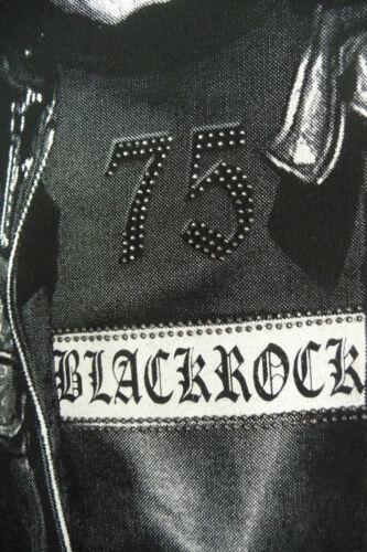 Herren T-Shirt BLACKROCK Skull Totenkopf Totenschädel Kurzarm schwarz Gr S