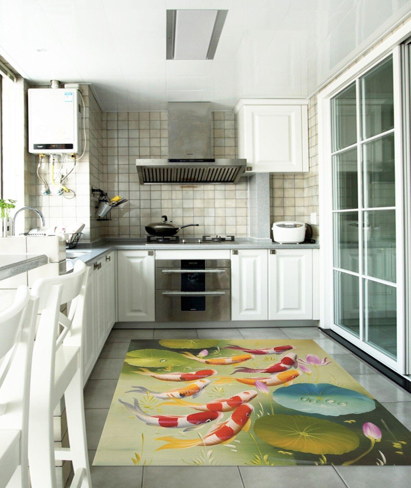3D Pond Carp 767 Kitchen Mat Floor Murals Wall Print Wall Deco UK Carly