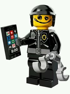 LEGO-Series-The-Movie-71004-7-Scribble-Face-Bad-Cop-MINIFIGURE-minifig-handcuffs