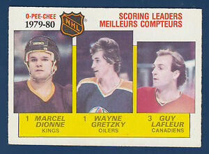 SCORING-LEADERS-DIONNE-GRETZKY-LAFLEUR-80-81-O-PEE-CHEE-80-81-NO-163-EXMNT-1115
