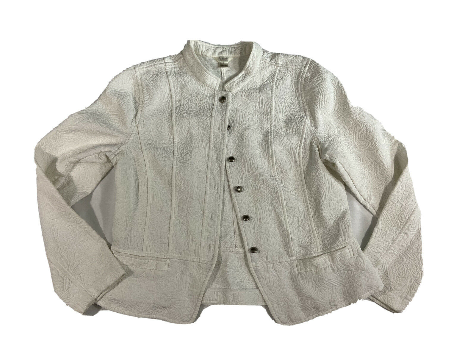 Christopher and Banks Ivory button up Jacket/blaz… - image 1