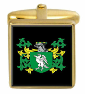 Select Gifts Bixby England Family Crest Surname Coat Of Arms Gold Cufflinks Engraved Box