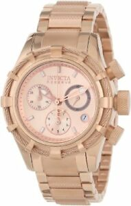 Invicta-Women-039-s-12460-Bolt-Reserve-Chronograph-Rose-Tone-Dial-18k-Rose-Gold-Ion