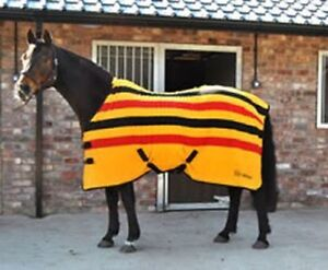WHITAKER-HOLYWELL-V2-STRIPED-FLEECE-RUG-YELLOW-RED-BLACK