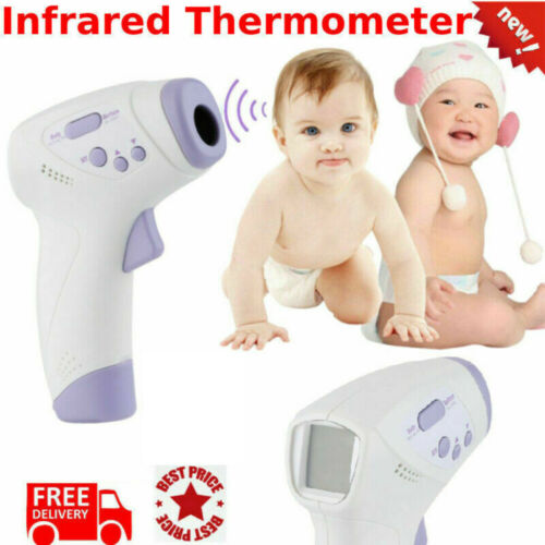 Thermometre Frontal Digitale Infrarouge Bebe Adulte Corps Sans Contact