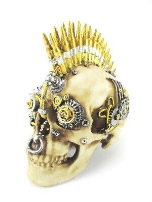 Totenkopf Schädel Skull Relief Poly 21 Cm Mit Patronen Irokese Geeignet FüR MäNner Und Frauen Aller Altersgruppen In Allen Jahreszeiten