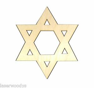 Star-of-David-Unfinished-Wood-Shape-Cut-Out-SD875-Crafts-Lindahl-Woodcrafts