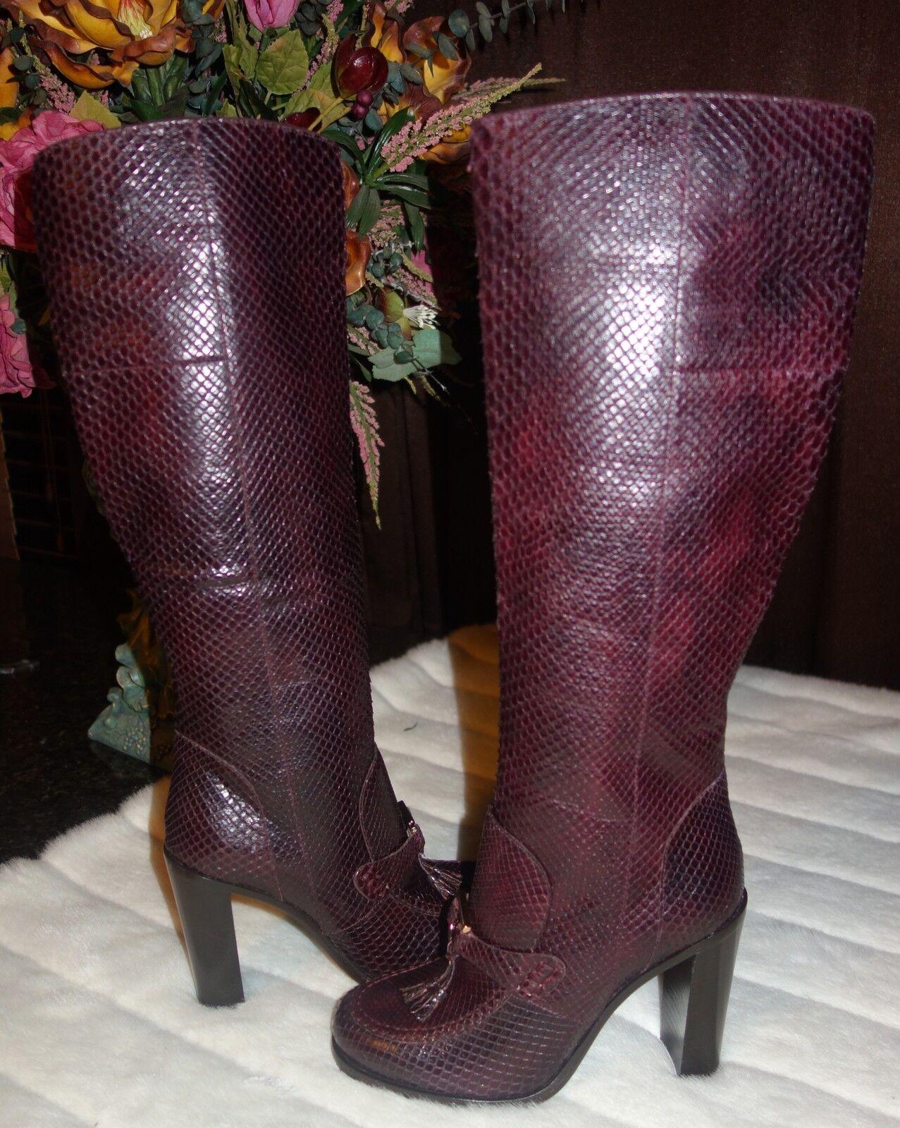 Salvatore Ferragamo  Cornel  de alto Python botas Bota Gancini poco Bota botas Talla 6.5 B Nuevo 2dd75e