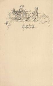 MENU FORMAT 21 CM X 15,50  CM MENU DE MARIAGE // ANNEE 1900 VIERGE