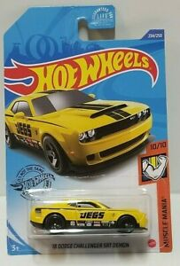 2020 Hot Wheels #234 Muscle Mania 10//10 /'18 DODGE CHALLENGER SRT DEMON Yellow