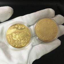 2019 PIG YEAR COMMEMORATIVE COIN GILDING PRESENT SOUVENIR NEW YEAR CRAFT Atom