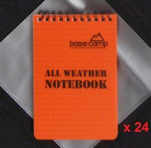 Wholesale-Job-Lot-24-x-Waterproof-Pocket-Grid-Camping-Notebook-Doorman-Pad