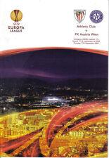 PROGRAMM PROGRAMMHEFTE ATHLETIC BILBAO-AUSTRIA VIENA WIEN 09-10 UEFA EUROPA LEA