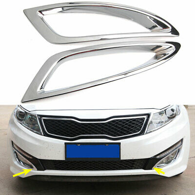 Abs Chrome Front Fog Light Lamp Cover Trim For Kia Optima K5 2016