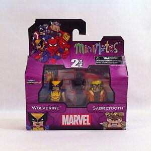 NEW-2012-Marvel-WOLVERINE-v-SABRETOOTH-Minimates-2-Pack-Series-1-MIB