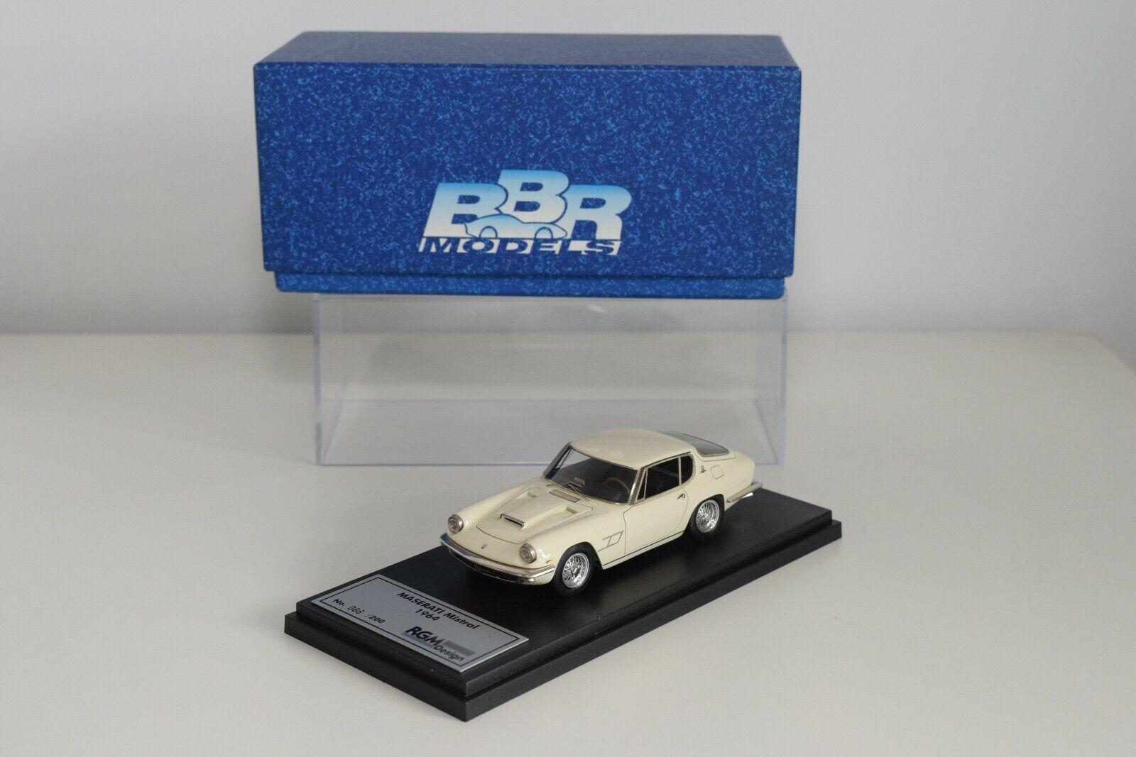 FF 1 43 BBR MODELS RGM28C MASERATI MISTRAL 1964 IVORY CREAM MINT BOXED 66 200